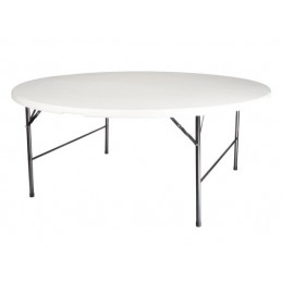 TABLE RONDE PLIANTE - Ø 180 cm