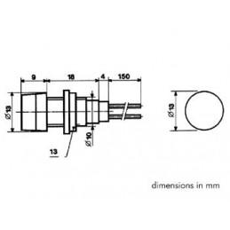 VOYANT ROND 13mm 12V ORANGE