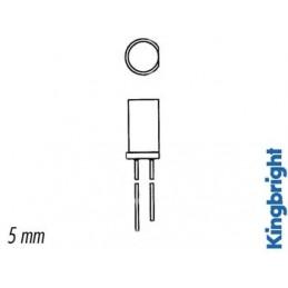LED PLATE JAUNE DIFFUSANTE 5mm