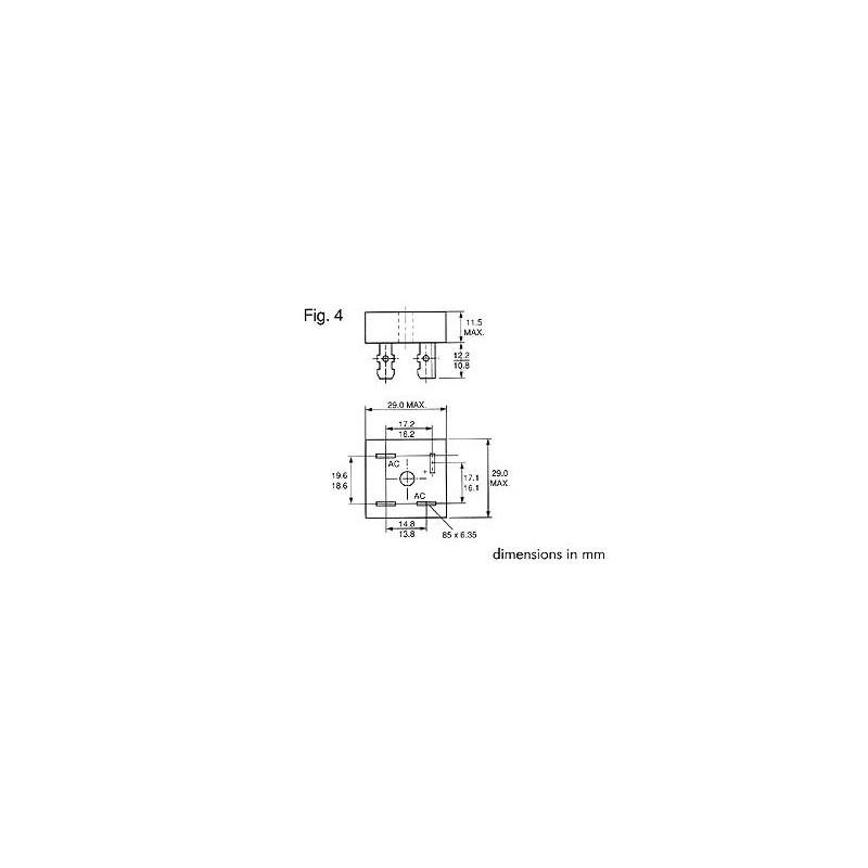 PONT DE REDRESSEMENT 100V-15A (KBPC1501)