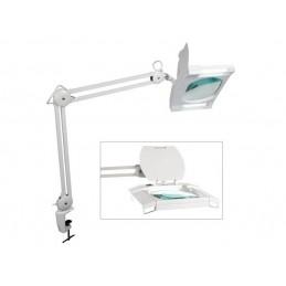 LAMPE-LOUPE - 2 X 9 W - BLANC