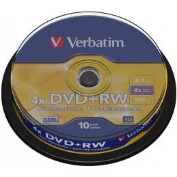 PACK DE DVDRW+ 4X 10 PIECES