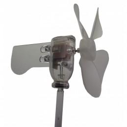 Mini éolienne avec LED RGB