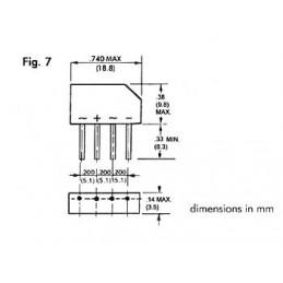 PONT DE REDRESSEMENT 250V-1.5A (B250C-2300-1500)