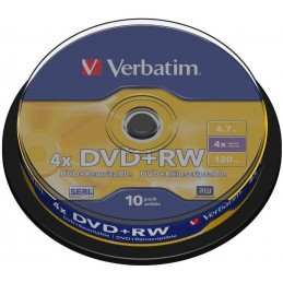 10 X VERBATIM DVD+RW 4X VIERGE