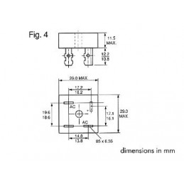 PONT DE REDRESSEMENT 400V-15A (KBPC1504)