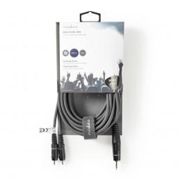 Câble Audio Stéréo de 5 m Gris