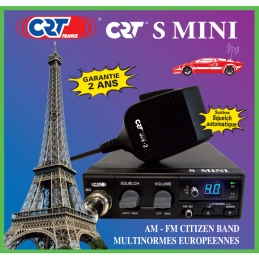 Poste CB CRT multinormes S Mini AM FM
