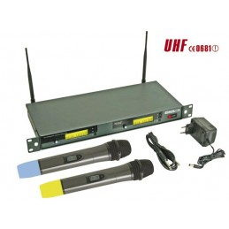 DOUBLE MICROPHONE PLL UHF...