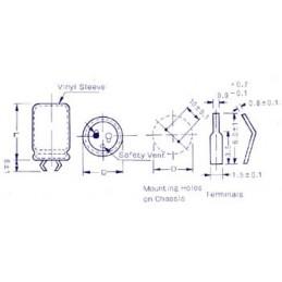 CONDENSATEUR CHIMIQUE SNAP-IN 100µF / 350V