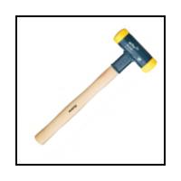 Marteaux sans rebond -  Wiha Masse sans rebond - mi-dur avec manche en hickory  - (02091) 100 mm