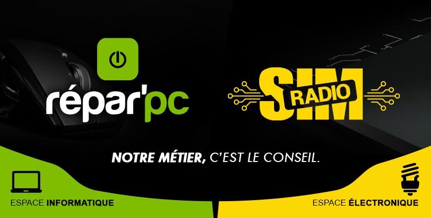 SimRadio & Repar'pc , Le n°1 dans la Loire ! Faites nous confiance pour réaliser vos projets Informatique et électronique. Des conseils de pro au 04 77 32 74 62 et  par email :  contact@simradio.fr , Le magasin du futur